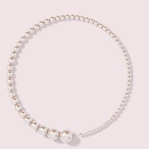 Kate Spade modern pearls choker necklace